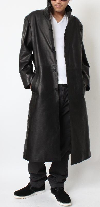 Long Leather Jacket Mens