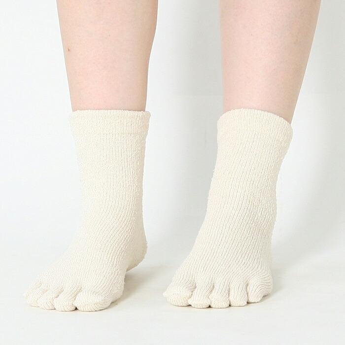 ... パイル靴下に5本指靴下が登場