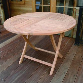 花园桌子:折叠式的圆桌[f-079]