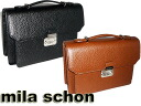 Million mila schon cash on delivery fee free made in Japan MADE IN JAPAN over expression second bag business leather 25 cm 197507 size black (black)