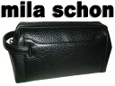 Million mila schon cash on delivery fee free made in Japan MADE IN JAPAN ネロクチ frame bag business leather 25 cm size black (black)
