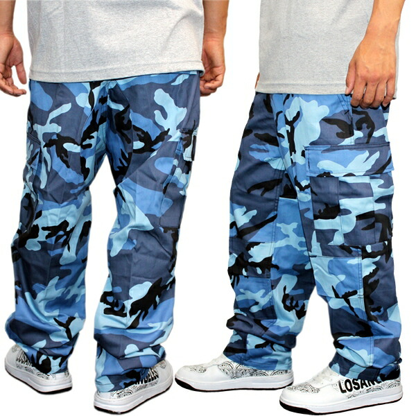 blue army cargo pants - Pi Pants