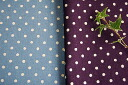 Cotton hemp canvas dot gingham (cloth)
