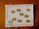 Coconut buttons 11.5 mm 4 holes