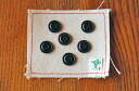 Leather-like stitching buttons (18 mm)