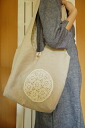 Crochet needle race linen bag paper pattern