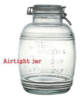 ���饹�����������ȥ��㡼/GLASS AIRTIGHT JAR�ʥ��饹��¸�ӡ�4.3L�ˡ�df-1651��