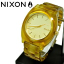 NIXON/ Nixon //THE TIME TELLER ACETATE/CHAMPAGNE GOLD/AMBER/ watch / men watch / domestic regular article /2 age guarantee