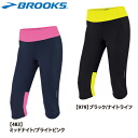 10% of BROOKS (Brooks) NIGHT LIFE nightlife WOMENS essential Capri (Lady's) ランニングウエアー OFF! """"