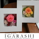 On one wall are preserved flower white frame