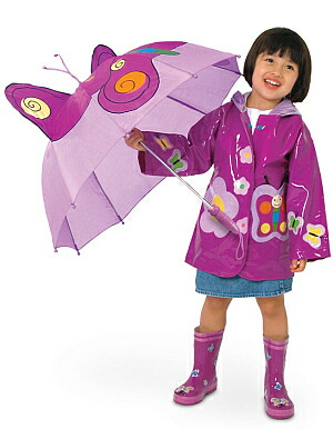 可爱(キドラブル) kidorable 蝴蝶蝴蝶伞儿童伞蝴蝶固体伞孩子儿童图片