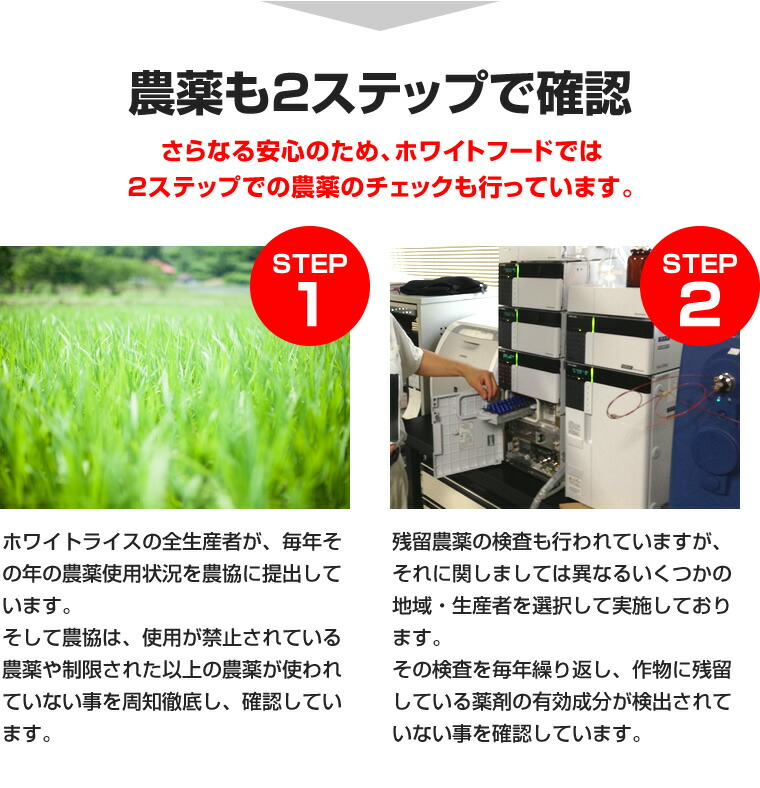 農薬も2つのステップで確認!