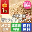 현미 1 위 ☆ 맛 최고 등급 「 특히 A 」의 홋카이도의 맛 있는 밥 화이트 라이스 2kg 현미에서 선택