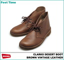 CLARKS DESERT BOOT BROWN VINTAGE LEATHER