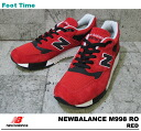 With the promise of new balance M998 NEWBALANCE M998 RO RO red mens sneakers product arrival report view