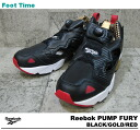 Reebok ポンプフューリー Reebok PUMP FURY BLACK/GOLD/RED V53306 mens Womens sneakers black