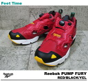 Reebok ポンプフューリー Reebok PUMP FURY RED/BLACK/YEL V53307 mens Womens sneakers Red