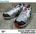 Reebok ポンプフューリー Reebok PUMP FURY SILVER/BLACK/RED V53308 mens Womens sneakers silver