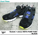 In the fixture of the Reebok X アトモスインスタポンプフューリー Reebok X atmos INSTA PUMP FURY BLACK black V61043 men gap Dis sneakers black review