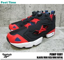 Reebok ポンプフューリー Reebok PUMP FURY BLACK/RBK RED/DRK ROYAL J98379 mens sneakers