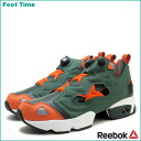 Reebok ポンプフューリー Reebok PUMP FURY OLIVE/ORANGE V53781