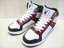 PLAYBOY MELLOW HI WHT/BLK/RED