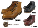 3 ビバグラフィティワークブーツモックトゥ VIVA GRAFFITI WORK BOOT MOC TOE COLORS BLACK CAMEL R.BROWN VG-7602