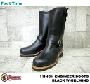 "11 チペワ 11 inches engineer boots black Waal wind CHIPPEWA ""ENGINEER BOOTS BLACK WHIRLWIND E WIDTH #1901M03"