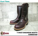 "11 チペワ 11 inches engineer boots cordovan leather CHIPPEWA ""ENGINEER BOOTS CORDOVAN E WIDTH #1901M04"