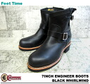 "7 チペワ 7 inches engineer boots black Waal wind CHIPPEWA ""ENGINEER BOOTS BLACK WHIRLWIND E WIDTH #1901M10"