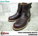 "7 チペワ 7 inches engineer boots cordovan leather CHIPPEWA ""ENGINEER BOOTS CORDOVAN E WIDTH #1901M11"