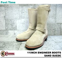 "11 チペワ 11 inches engineer boots sand suede cloth CHIPPEWA ""ENGINEER BOOTS SAND SUEDE E WIDTH #1901M55"