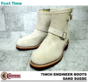 "7 チペワ 7 inches engineer boots sand suede cloth CHIPPEWA ""ENGINEER BOOTS SAND SUEDE E WIDTH #1901M56"