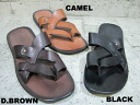 OUT NUMBER LEATHER SANDAL ON-3101 3colors BLACK D.BROWN CAMEL