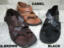 OUT NUMBER LEATHER SANDAL ON-3102 3colors BLACK D.BROWN CAMEL