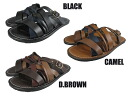 3 out number leather sandals ON-1103 OUT NUMBER LEATHER SANDAL ON-1103 COLORS BLACK/D.BROWN/CAMEL