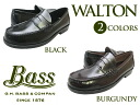 G.H BASS WALTON BLACK BURGUNDY