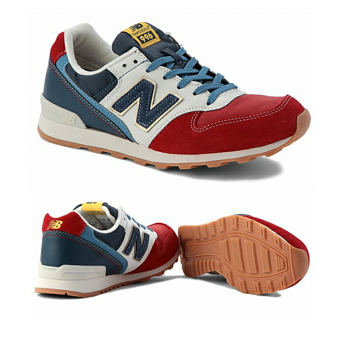 red new balance 996 sneaker