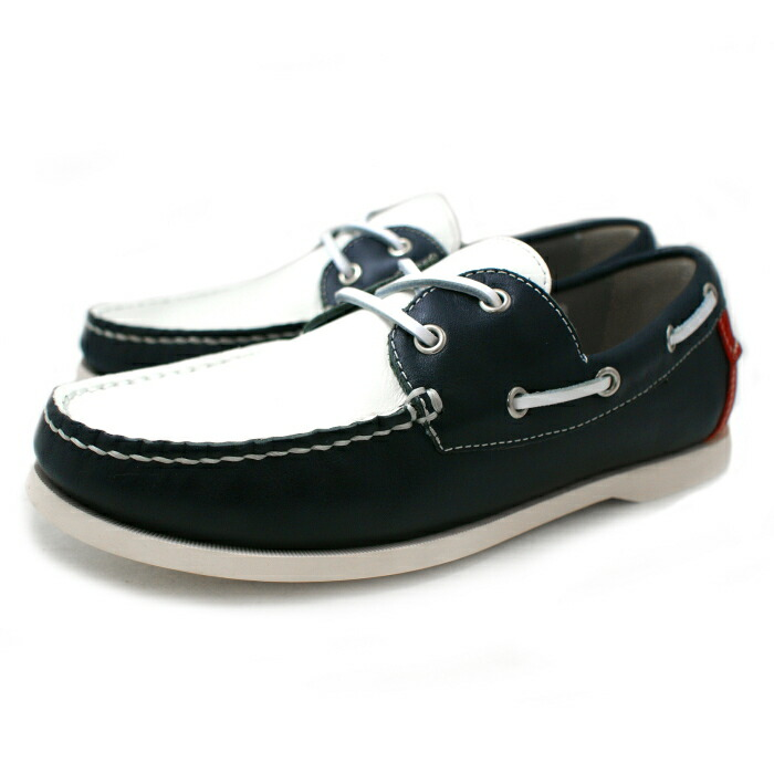 White Leather Deck Shoes Men