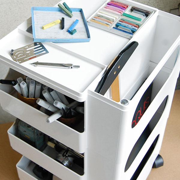 Foranew rakuten global market bobby wagon boby wagon 4 - Art desk with storage organization ...
