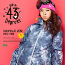 【43Degree】 Snowboard Wear New Model / Women's Jacket&Pant Set★ / Style_G29〜41[fs01gm]