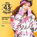 【43Degree】 Snowboard Wear New Model / Women's Jacket&Pant Set★ / Style_H42〜57[fs01gm]