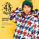 【43Degree】 Snowboard Wear New Model / Unisex Jacket&Pant Set★ / Style_F44〜56[fs01gm]