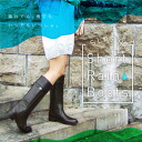 With side belt ☆ Jockey wind SLASH ☆ long boots (boots) the stylish fully waterproof specifications ★ rainy day just not ♪ beautiful dress you can use shopping or dating is recommended ☆ 02P01Sep13