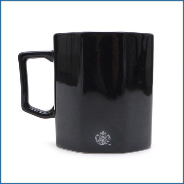 starbucks starbucks 490 003543 011 black mug octagonal fragment