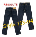 ■ RESOLUTE ( リゾルト ) 66 66 Low JEANS low rise model! 713-94 (Single wash) ▼! Cash on delivery fee free! ▼