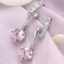 ピンクティアー cz pink diamond earring New York limited edition designer cz diamond-jewelry presents gifts birthday wedding anniversary