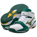 "Mizuno Mizuno basketball shoes ""wave rial GRASP/ white X green"" 13KL-23036"