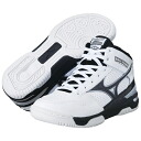 Mizuno MIZUNO junior basket ball shoes ' wave rookie BB3 / White x black ' 13KL-37009