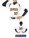 ZETT 야구 셔츠 「 소년 용 야구 셔츠에 직접 인쇄 FDP37 」 전체 유 방, 유 방 번호, 번호 있음